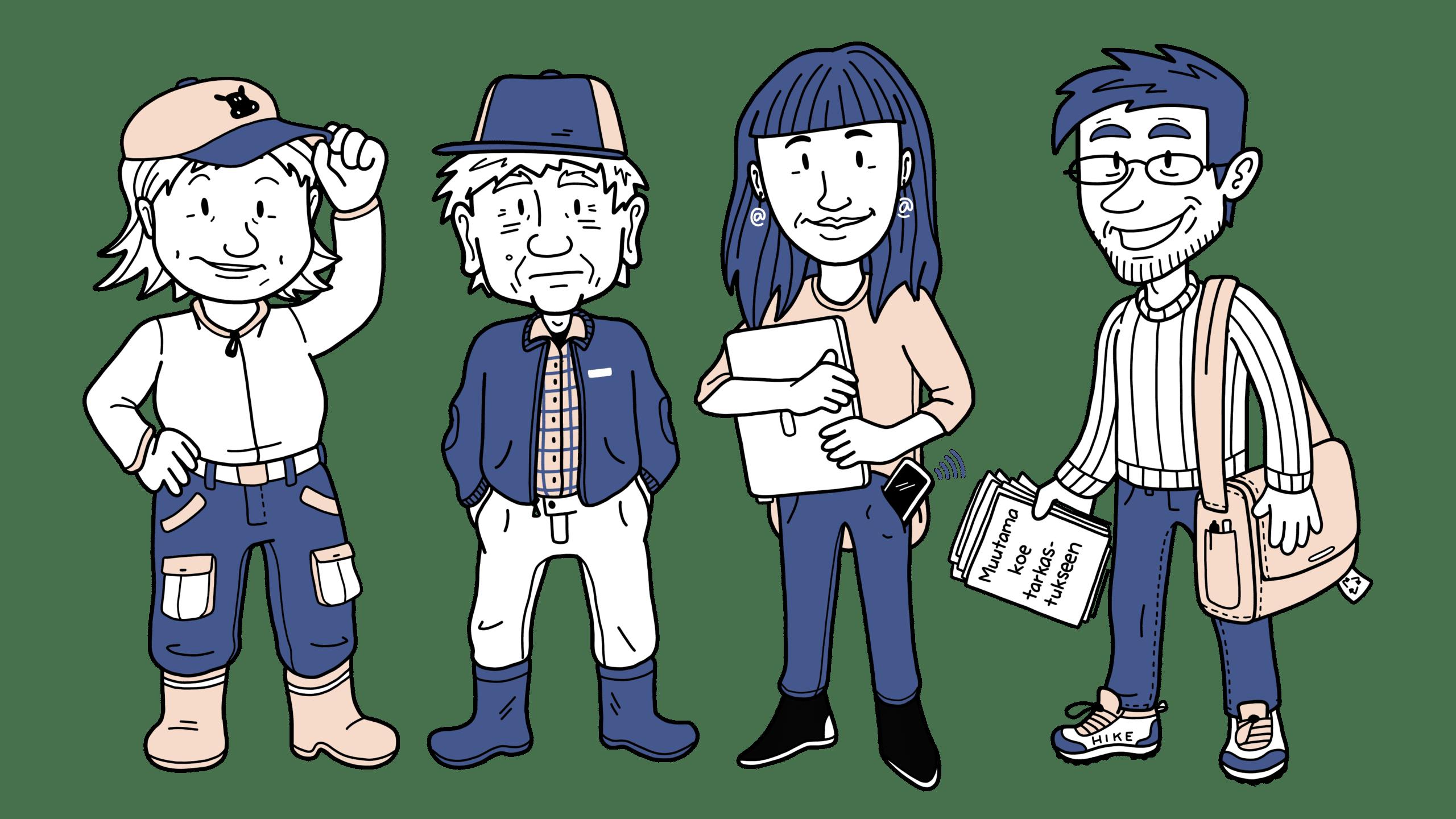 Ilmastohahmot: neljä erilaista ihmistä